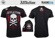 Another high-performance Affliction shirt joins the team as they roll out their Team Performance design along the heels of their winter selection of tees. Mma Clothing, Mma Shorts, Signature Design, Ufc, Tees, Shirts, Mens Fashion, Hoodies, Mens Tops