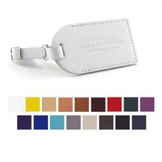 Leather Luggage Tag wedding favor. LOVE the quote. \