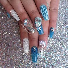 ˙·٠••❥✦∙∘WrapWhispererr¸¸.•*¨*•✦❁♬✧°• ||Aquarium Nail Art by @nails_by_annabel_m