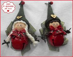 angels or elves Handmade Ornaments, Diy Christmas Ornaments, Felt Ornaments, Felt Crafts, Christmas Crafts, Christmas Gnome, Christmas Wood, Christmas Signs, Hobbies And Crafts