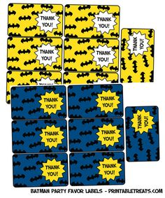 free printable batman party labels