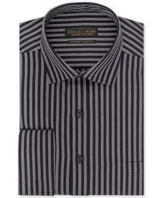 Beautiful shirt with french cuffs!  Donald J. Trump Non-Iron Bold Stripe French Cuff Shirt - Dress Shirts - Men - Macy's