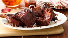 The broiling gives the ribs great smoky flavor and gives them a barbecued appearance. It's not necessary to broil, but highly recommend to boost the flavor and texture.