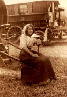 Antique photograph of a gypsy.