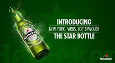 Heineken: The world-renowned green Heineken Bottle has finally arrived in the Netherlands, replacing the long-running use of brown bottles. From April 2013, over 100 million green 30cl Heineken Bottles with a new silver crown cork, aka the Star Bottle, will become available in Heineken's home market, helping ensure that whenever Dutch consumers are enjoying their favourite beer that it will be in the same green bottle used throughout the rest of the world. Brown Bottles, For Stars, Beer Bottle, Packaging Design, Alcohol, Drinks, Cork, Netherlands, Dutch