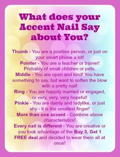Whether you call it an accent nail, a party nail or finger flair IT SAYS SOMETHING ABOUT YOU!