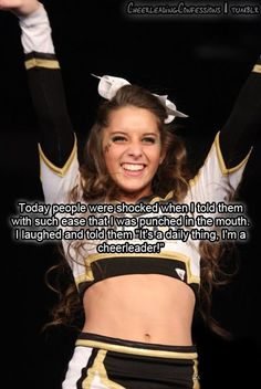 Except I say I punched bailey in the mouth. Our parents don't even care even more! Except I say I punched bailey in the mouth. Our parents don't even care even more! Cheerleading Workouts, Cheer Workouts, Cheer Stunts, Cheer Dance, Competitive Cheerleading, Funny Cheerleading Quotes, Cheerleader Quotes, Cheerleading Photos, Song Workouts