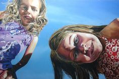 Girls In The Sun - Oil on canvas by Matt Buckett 2013 Oil On Canvas, Carnival, Rocks, Sun, Face, Girls, Artwork, Painting, Toddler Girls