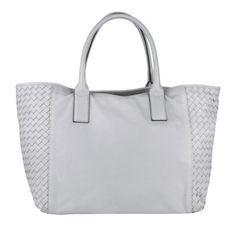 Abro Tasche – Victory Nappa Calf Leather Handbag Light Grey – in grau – Henkeltasche für Damen