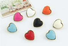 Fashion metal color peach heart earrings temperament alloy earring fashion jewelry $0.96