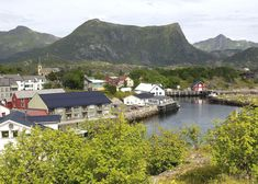 Kabelvåg, Nordland in 1905 and (click to fade) 2004. Kabelvåg is presumably Lofoten's oldest, and has also been its largest fishing community. In 1905 Kabelvåg was an urban environment, the capital of Lofoten, and an important trade center. The Vågan church, the Lofoten Cathedral, was one of Norway's largest wooden churches. With the motorization of coastal boats, the harbor was no longer serviceable, and Svolvær took over most of the boat traffic and expanded.
