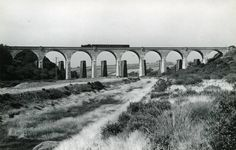 A passenger train crosses Perranwell Viaduct, 12 September 1959
