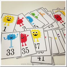 Monster Number Cards (not free)