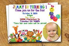 Caterpillar Invitation Baby Einstein Birthday by TheLudwigShop, $14.99