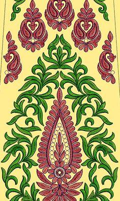 Latest Pakistani Fashion Kali Embroidery Design 14867
