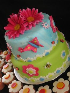 butterfly birthday cake for girls - cute birthday cake decorations
