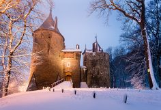 wales winter | Castle Coch, Winter Night, Wales - a photo on Flickriver