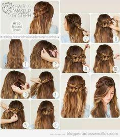 Peinados sencillos - Ideas, tutoriales y vídeos para aprender a hacer peinados…