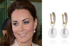 Kate Middleton Duchess of Cambridge Annoushka Favourites Pearl Earrings