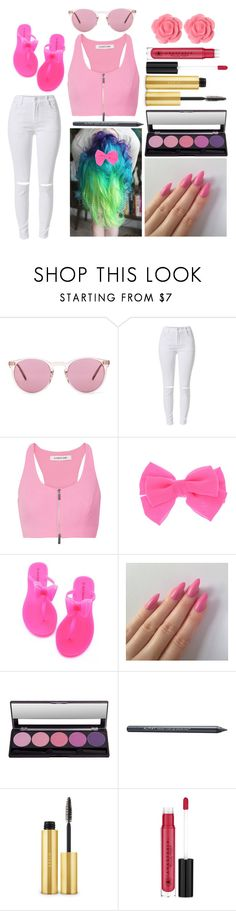 """""""Amber: April 23, 2016"""" by disneyfreaks39 ❤ liked on Polyvore featuring Oliver Peoples, Elizabeth and James, Almay, AERIN, Anastasia Beverly Hills and Dollydagger"""