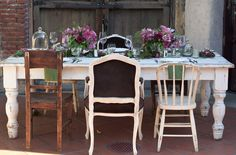 Romantic Fall Wedding Inspiration    shabby chic with mismatched furnitures