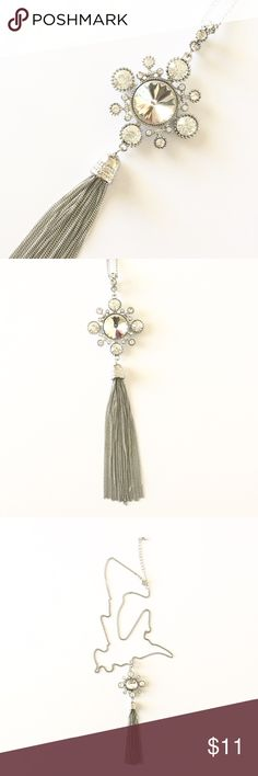"Tassel Necklace NWOT. Silver tassel necklace. Lobster clasp closing. Adjustable chain. Almost 22"" long. Final price. Jewelry Necklaces"