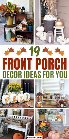 19 Cheap & easy Fall front porch decor ideas you need to use this Fall! These Fall front porches are frugal, simple and really stand out! #fall #frontporches #fallfrontporch #frontporchdecor #diy