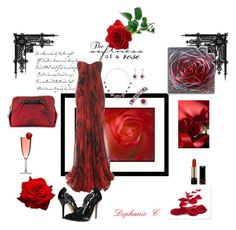 """""""A Red Rose"""" by dephaniecaldwell ❤ liked on Polyvore"""