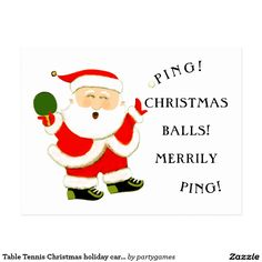 Table Tennis Christmas holiday cards