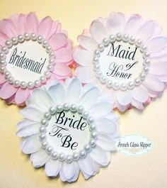 Wedding, Bridal Shower Corsage,Mother of The Bride Pin, BLUSH and PINK,Bride…