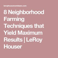 real estate farming techniques