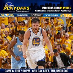 ITS GAME DAY!!! Another wild scene is expected tonight on #WarriorsGround as the Dubs look to close out their first round playoff series with the @Denver Nuggets. Game preview at warriors.com/gameday