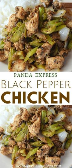 Best easy Panda Express Chinese Black Pepper Chicken recipe is what you have to try next,its under 30 mins and better than takeout dish,wherein crispy chicken chunks are stir-fried along with easy sau Recipes With Chicken And Peppers, Chicken Stuffed Peppers, Best Chicken Recipes, Asian Recipes, Healthy Recipes, Easy Recipes, Recipes With Chicken Chunks, Asian Foods, Vegetarian Recipes
