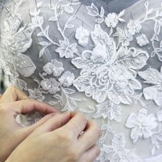 """""""Work in progress - it's all about the hand work #mirazwillinger #behindthescenes #atelier #couture"""""""