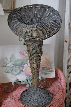 Funeral Basket with Barbola flowers by Maison Douce