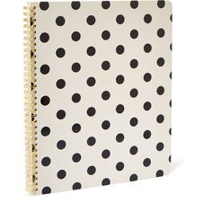Kate Spade new york Large Spiral Well Composed Notebook (411.320 IDR) ❤ liked on Polyvore featuring home, home decor, stationery, school supplies and accessories