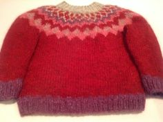 RESERVE FOR Kate, Icelandic sweater, for 3 year old  handmade, 3T, made of Icelandic wool, ready to ship
