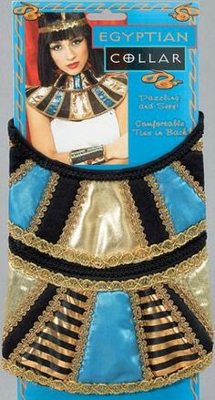 Gold Egyptian Queen Of The Nile Cleopatra Necklace Collar Fancy Dress Accessory Ladies Fancy Dress, Adult Fancy Dress, Fancy Dress Outfits, Pharaoh Costume, Egyptian Costume, Cleopatra Costume, Fancy Dress Accessories, Costume Accessories, Women Accessories