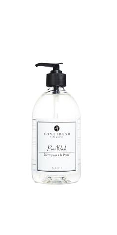 Lovefresh Hand & Body Wash is a gentle yet effective wash that is free of harsh detergents. Usi