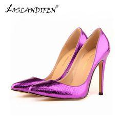 The small crocodile women pump sexy cusp shoe heels spring brand wedding  pumps large volume 35 0d4bf51215b2