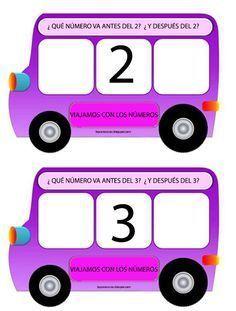 He elaborado estos autobuses para trabajar el anterior y el posterior. Al realizarlo me ha surgido la duda si incorporar el número 1 ya q...
