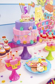 You have to see this Shopkins birthday party! See more party ideas at CatchMyParty.com!