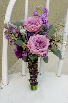 Earthy Purple Wedding Flowers.. Similar to my wedding. Love!
