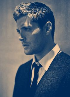 Jensen Ackles this is a good pic for Coles hair when he tells the lady how he wants it cut..