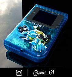 custom Gameboy Pokemon BLUE - blastoise theme by Zoki64 Nintendo 3ds, Gameboy Pokemon, Nintendo Systems, Playstation, Ps Wallpaper, Green Pokemon, Custom Consoles, Gaming Room Setup, Retro Video Games
