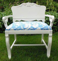 Art Deco Vanity Bench Image- use backboard as fauz veneer guide ...