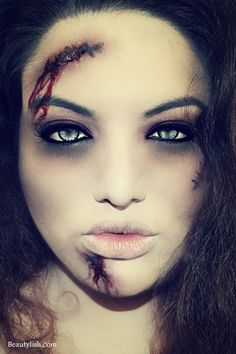 15 Really Cool Halloween Make Up Ideas! | Zombie makeup, Makeup ...