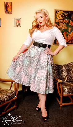 The Doris Top in White from Pinup Couture - Plus Size