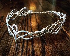Elven Circlet ELANDRIA Celtic Hand Wire Wrapped - Choose Your Own COLOR - Crown Tiara Bridal Wedding Hairpiece