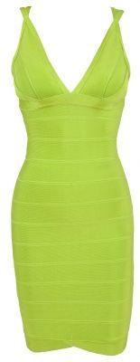'Jade' Lime Green Bandage Dress